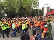 Meksykańska drużyna ratownicza dla katastrof naturalnych obrazy stock