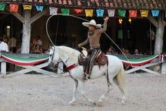 Meksykańska lasso demonstracja fotografia stock