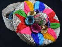 Meksykańska słomiana szkatuła Fotografia Royalty Free