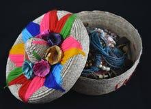 Meksykańska słomiana szkatuła Zdjęcia Stock