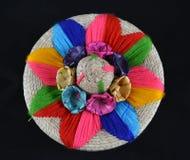 Meksykańska słomiana szkatuła Obrazy Stock