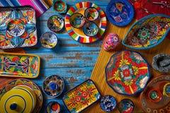 Meksykański ceramiczny Talavera styl Meksyk zdjęcie royalty free