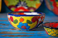 Meksykański ceramiczny Talavera styl Meksyk zdjęcia stock