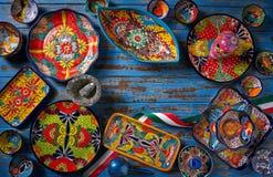 Meksykański ceramiczny Talavera styl Meksyk fotografia royalty free