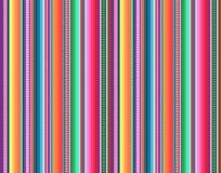 Meksykański dywanika wzór serape paskuje wektor ilustracji