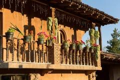 Meksykański gankowy szczegół Fotografia Stock