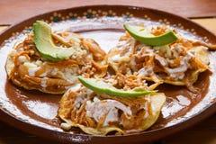 Meksykański jedzenie: Tostadas tinga zdjęcia stock