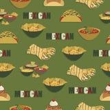 Meksykański jedzenie wzór Obraz Stock