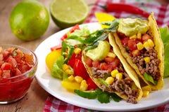 Meksykański karmowy Tacos obraz royalty free