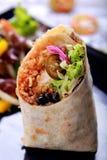 Meksykański kuchni burritos krewetki queiro Obrazy Royalty Free