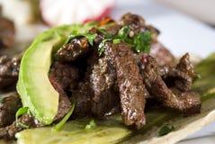 Meksykański taco smakosz towarzyszący avocado obrazy royalty free