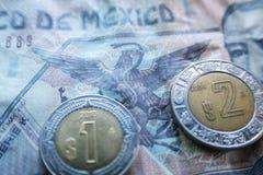 Meksykański waluty zakończenie W górę Wysokiej Jakości obrazy royalty free