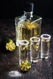 Meksykański Złocisty Tequila Fotografia Royalty Free