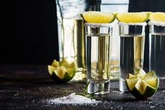Meksykański Złocisty Tequila Zdjęcia Stock