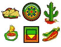 meksykańskie ikony żywności Zdjęcie Royalty Free