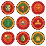 Meksykańskie odznaki Zdjęcia Royalty Free