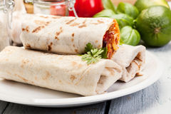 Meksykańscy burritos Fotografia Stock