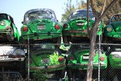 Meksykańscy taxi w Junkyard Zdjęcia Stock