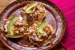 Meksyka?scy tinga tostadas zdjęcie royalty free