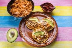 Meksyka?scy tinga tostadas fotografia stock