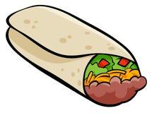 Meksykańska burrito tortilla kreskówki ilustracja Zdjęcie Stock