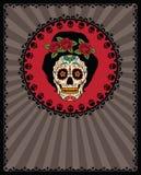 Meksykańska cukrowa czaszka Zdjęcie Royalty Free
