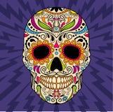 Meksykańska czaszka oryginalny wzór wektor Zdjęcie Royalty Free