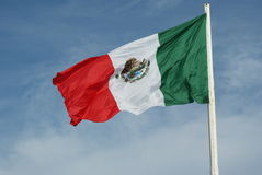 Meksykańska flaga Fotografia Stock