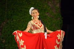 Meksykańska kobieta w czerwieni Zdjęcia Royalty Free