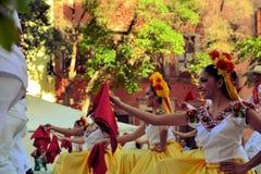 Meksykańska taniec grupa na scenie przy festiwalem Kulturalnym Obraz Royalty Free