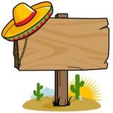 Meksykański drewniany kierunkowskaz Royalty Ilustracja