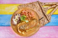 Meksyka?ski jedzenie: chile relleno fotografia stock
