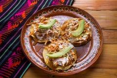 Meksyka?ski jedzenie: tinga tostadas obraz stock