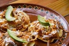 Meksyka?ski jedzenie: Tostadas tinga fotografia royalty free
