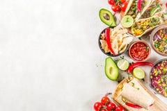 Meksyka?ski karmowy poj?cie Cinco de Mayo jedzenie zdjęcia royalty free