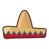 Meksykański latynoski kapelusz Ilustracji