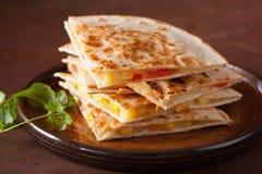 Meksykański quesadilla z pomidorowym kukurydzanym serem Zdjęcie Stock