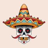 Meksykański scull Zdjęcia Stock