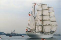 Meksykański wysoki statek podczas tallship parady Zdjęcia Royalty Free
