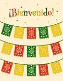 Meksykańskie flaga Obrazy Stock
