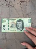 Meksykańskiego peso banknot Obrazy Royalty Free