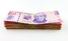 Meksykańskiego peso rachunki Zdjęcie Stock