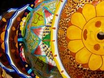 Meksykanie Malujący talerze Obrazy Stock