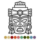 Meksykanin, afrykanin, aztec kolorystyki maskowa strona ilustracji