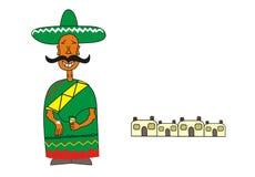 Meksykanin i osada ilustracja wektor