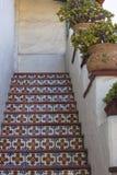 Meksykanin płytka na krokach w klatce schodowej Zdjęcia Stock