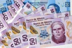 Meksykanin Pasos - banknoty Meksyk Fotografia Royalty Free