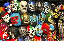 Meksykanina Lucha zapaśnictwa maski Zdjęcie Royalty Free