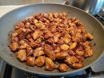 Meksykanina styl marynujący kurczak dices smażyć Obraz Stock