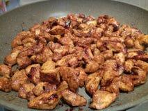 Meksykanina styl marynujący kurczak dices kucharstwo Zdjęcie Stock